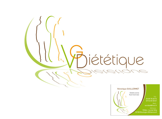Logo Et Carte De Visite VG Dietetique