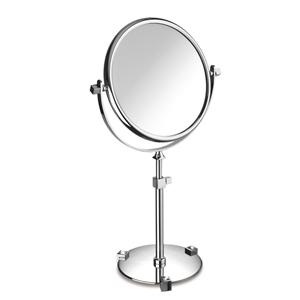 Windisch miroir sur pied r glable laiton chrom et for Miroir sur pied fly