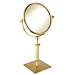 WINDISCH - Brass mirror in gold with Swarovski
