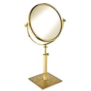 Windisch miroir laiton swarovski dor livraison offerte for Accessoire salle de bain dore