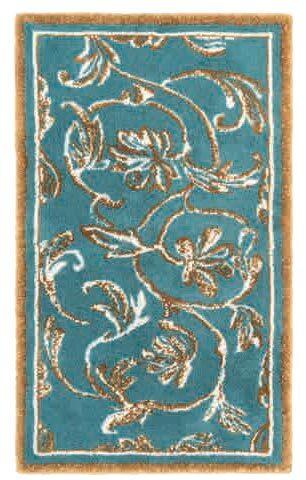 HABIDECOR • Tapis Dynasty Bleu et or - Accessoires salle de bain de ...