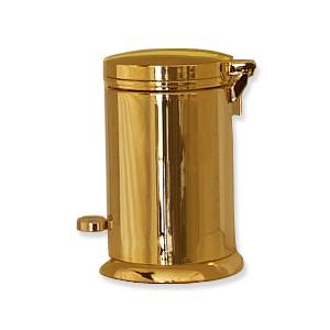 Poubelle de salle de bain dor e livraison offerte for Accessoire salle de bain dore