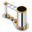 POMBO - Toothbrush holder chrome-gold MONTECARLO