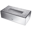 WINDISCH - Brass tissue paper box chrome with Swarovski elements