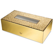 WINDISCH - Gold Brass tissue paper box with Swarovski elements