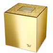 WINDISCH - Square gold brass tissue box with Swarovski elements