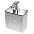 WINDISCH - Brass soap dispenser chrome, rectangle with Swarovski elements