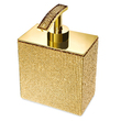 WINDISCH - Brass soap dispenser gold, rectangle with Swarovski elements