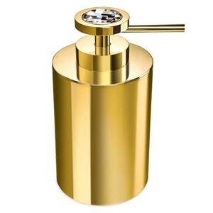 Windisch distributeur de savon liquide laiton dor for Accessoire salle de bain dore