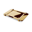 WINDISCH - Rectangular brass tray gold with Swarovski cabochons
