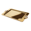 WINDISCH - Gold Brass tray with Swarovski cabochons big size