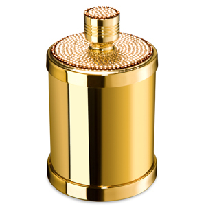Pot coton laiton dor swarovski windisch livraison offerte for Accessoire salle de bain dore