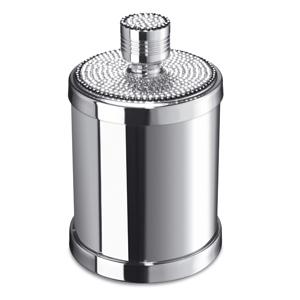 Pot a coton en laiton chrom et cristal windisch livraison - Pot a coton salle de bain ...