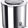 WINDISCH - Chrome brass pedal bath bin with Swarovski elements