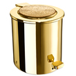 WINDISCH - Gold brass pedal bath bin with Swarovski elements