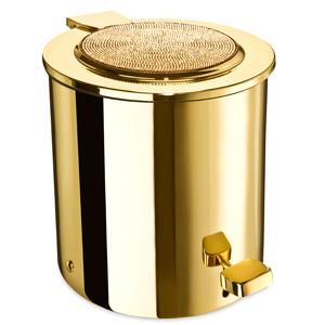Poubelle de salle de bain dor e livraison offerte d s 99 for Accessoire salle de bain dore