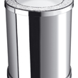 WINDISCH - Chrome brass bath bin with Swarovski elements