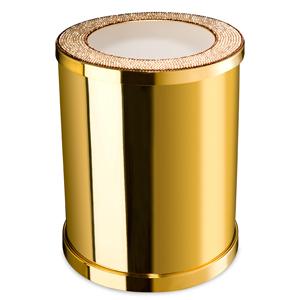 poubelle de salle de bain dor e swarovski windisch livraison offerte accessoires salle de bain. Black Bedroom Furniture Sets. Home Design Ideas