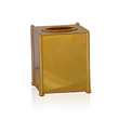 WINDISCH - Square gold tissue box cover