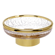 SURYA - Soap dish cracked crystal gold brass