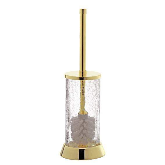 Pot-balai cristal craquelé et laiton doré SURYA-Livraison offerte ...