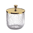 SURYA - Cotton pot cracked crystal gold brass