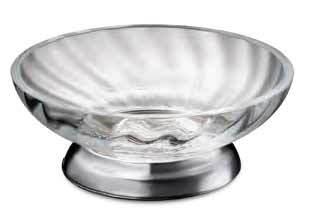 WINDISCH - Porte-savon en laiton chromé et cristal