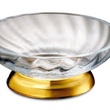 WINDISCH - Soap dish gold brass and crystal