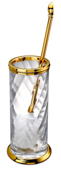 WINDISCH • Pot balai laiton doré et cristal - Accessoires salle de ...