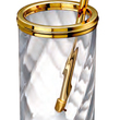 WINDISCH • Toilet Brush holder gold brass and crystal without cover
