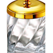 WINDISCH - Cotton bud jar gold brass