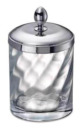 Pot a coton en laiton et cristal WINDISCH-Livraison offerte ...