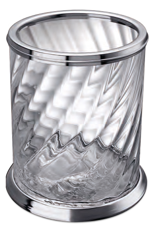 Poubelle en cristal Windisch-Livraison offerte - Accessoires salle ...