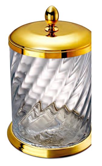Poubelle dorée Windisch-Livraison offerte - Accessoires salle de bain ...