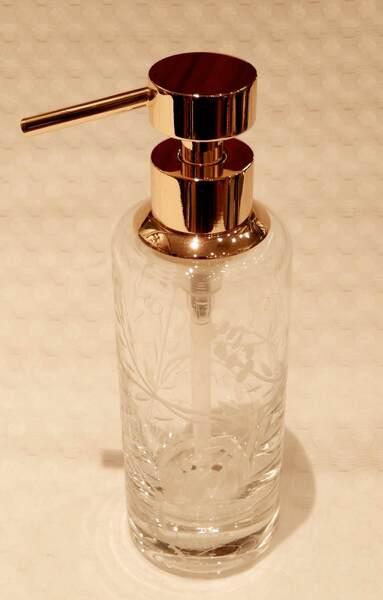 Distributeur savon liquide cristal et or - Livraison offerte dès 99 ...