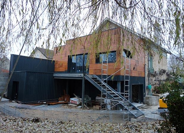 extension moderne sur maison ancienne oh22 montrealeast. Black Bedroom Furniture Sets. Home Design Ideas