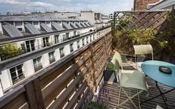 The charm of the Parisian rooftops Hotel Vivienne Opera