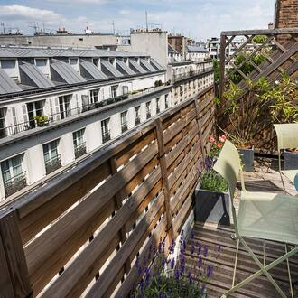 Romantic roofs of Paris from Hotel Vivienne Opera