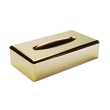 GERSON Rectangular holder tissue box in gold