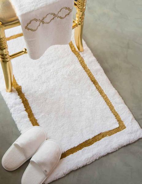 Habidecor tapis de bain karat accessoires salle de for Accessoire salle de bain dore