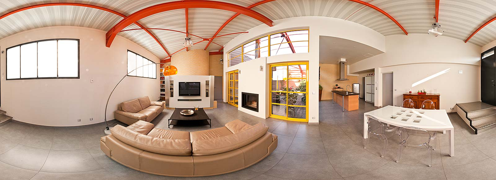Photo 360 interactive pour l immobilier de prestige for Le loft immobilier