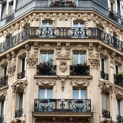 Immeubles Haussmaniens, Paris - Ref 172 - © F Brollo