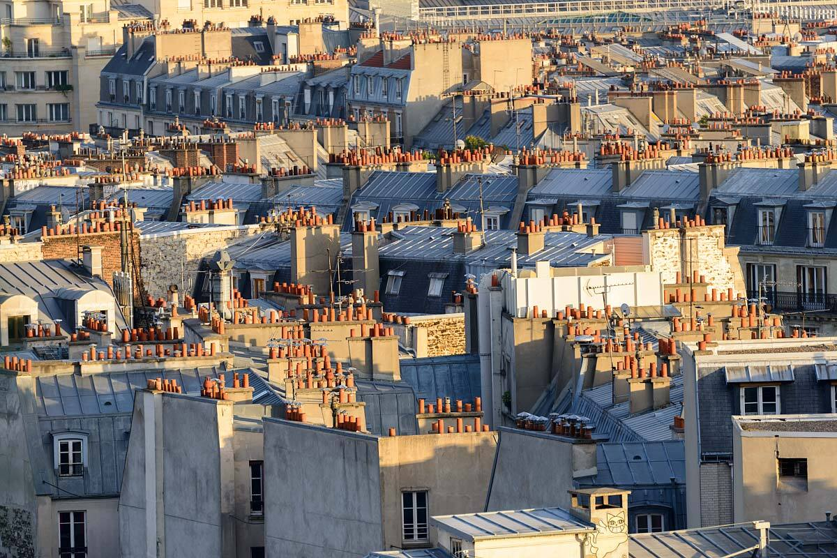 banque d 39 images de paris toits et fa ades parisiens panoramica. Black Bedroom Furniture Sets. Home Design Ideas